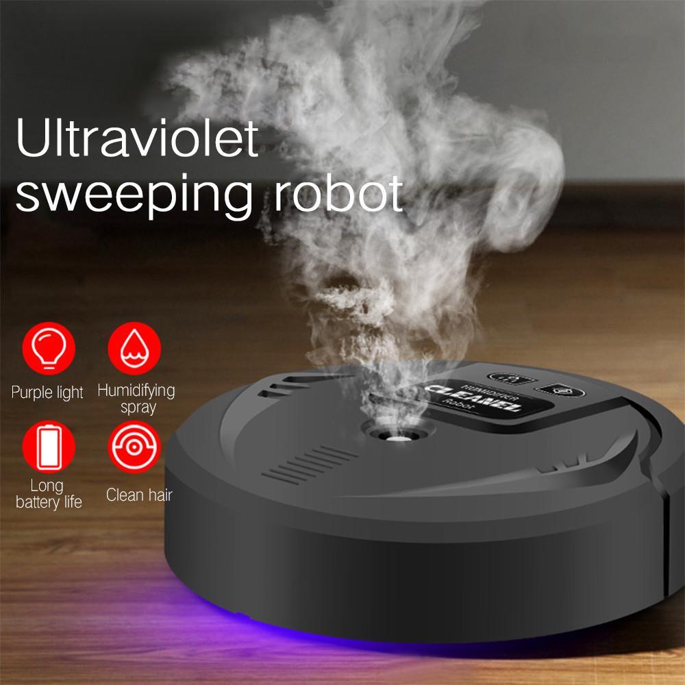Humidificateur UV Humididificateur Aroma aspirateur Diffuseur Robot de balayage intelligent Robot pratique Machine de nettoyage automatique pour le bureau de la maison