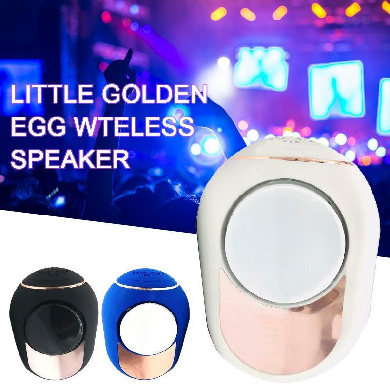 2020 Pequeno Ovo Golden Wireless Bluetooth Speaker Portátil Multicolor Estéreo Surround Music Player com cabo de áudio 2-em-1