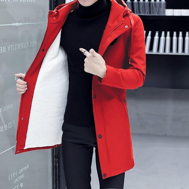 Мужские куртки осень зимние мужские длинные густые теплые пальто с капюшоном шерстяной лайнер с сплошной курткой D051