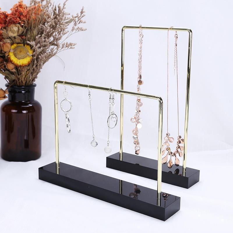 joyas de metal pantalla del organizador del sostenedor del soporte del estante de acrílico de accesorios para el cabello collar pulsera y estaran en caso baratija percha