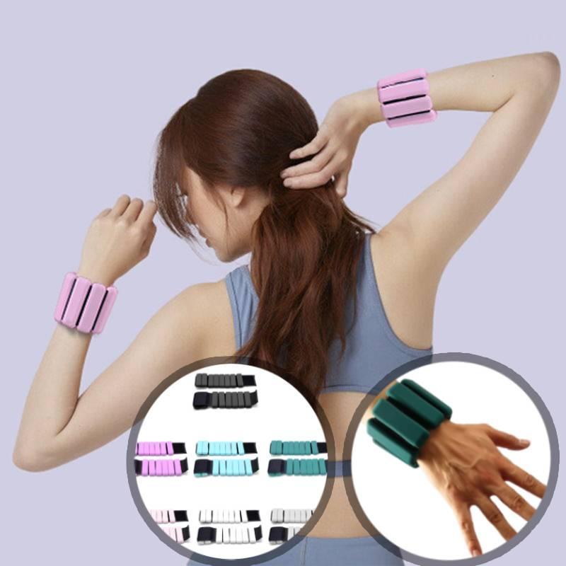Sport cinturino da polso Sollevamento pesi Strap Fitness Gym fasciatura della mano Supporto Wristband Yoga regolabile in silicone Weighted Bracciale