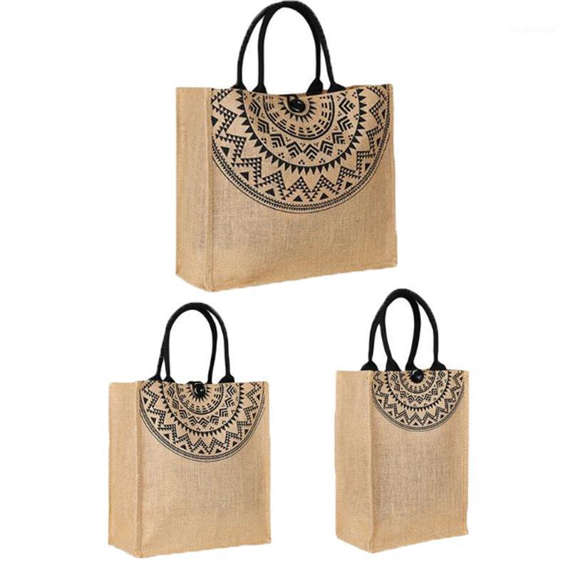Classic Jute Hessian Reusável Eco Amigável Tote Shopper Shopping Bag1