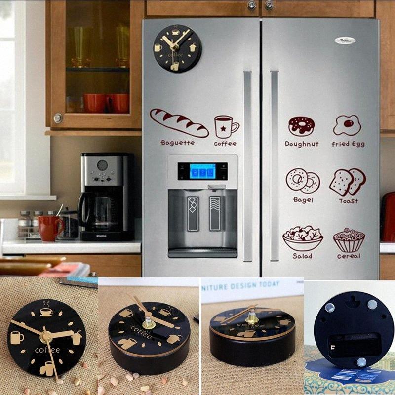 Sessiz Buzdolabı Mıknatıslar Souvenir Dijital Kendinden yapışkanlı Duvar Saati Buzdolabı Mıknatıslar Boşluklar Manyetik Kurulu Mutfak İzle Duvar ZrL0 #