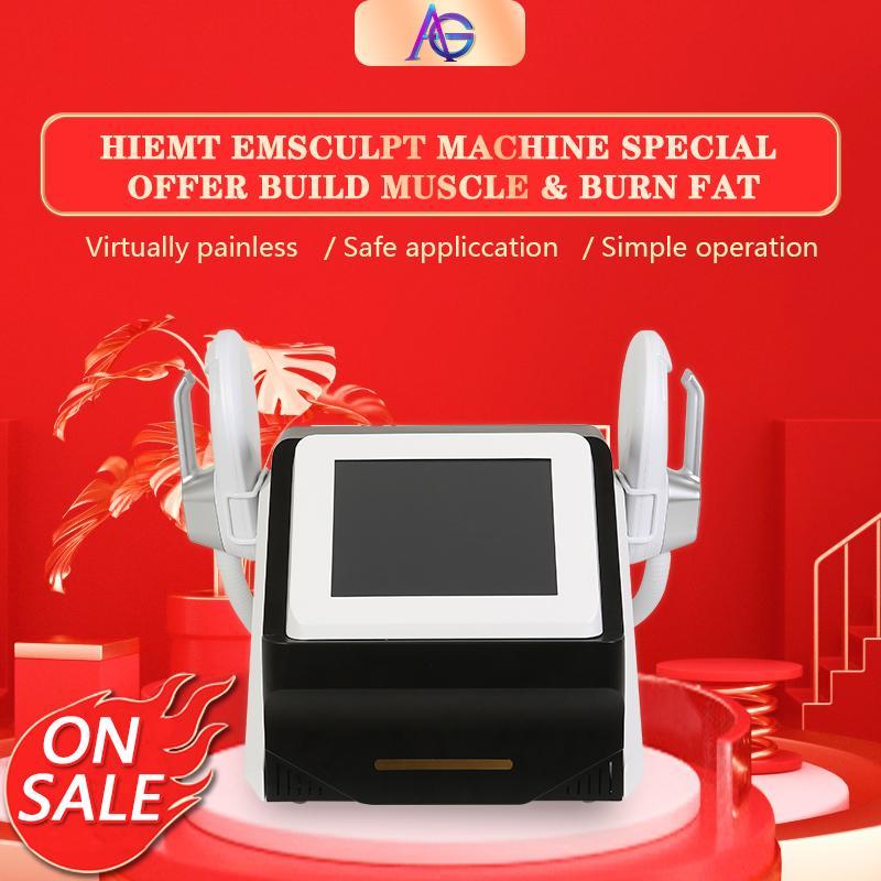 휴대용 Hiemt EMSCulpt 엉덩이를 들어 올리는 초음파 캐비테이션을 가진 슬리밍 기계 뚱뚱한 근육 Emsculpt 아름다움 장비를 줄이십시오