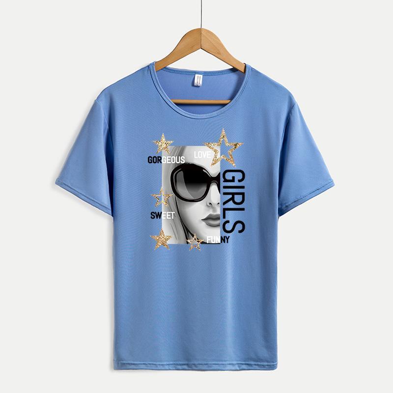 Kadınlar Moda Mürettebat Boyun Gömlekler Nefes Casual Kadınlar için 2020 Yaz Yeni DIY Tişörtler Tee Özel Artı boyutu M-4XL A683 Tops