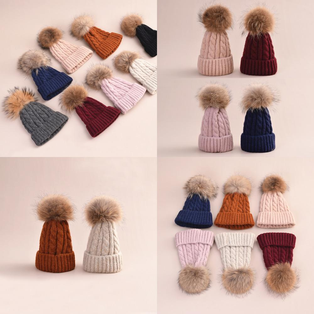 Design Custom Knitted Cap Snowboard Pompom Winter Hat Womens Beanies HU2Y
