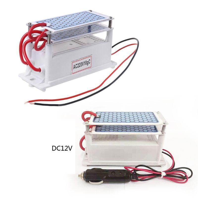 10g/h DC12V/AC220V Portable Ozone Generator Integrated Ceramic Ozonizer