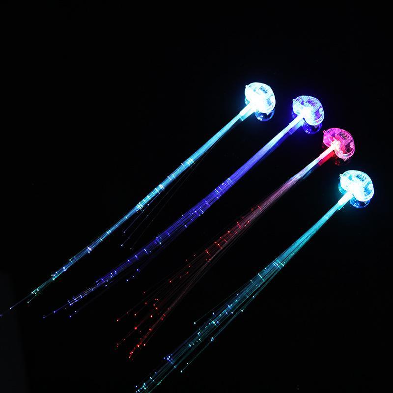 Fibra óptica luminescência de luminescência LED luz até brinquedos peruca flash popular criativo de alta qualidade e barato 0 8st J1