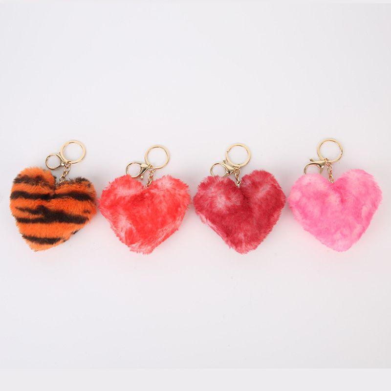 Leopar Baskı Kalp Anahtarlık Oyuncak Peluş Karikatür Oyuncaklar Hediyeler Kawaii Bebek Mini Sevimli Dolması Peluş Anahtarlık Kolye Kalp Anahtarlık G12905
