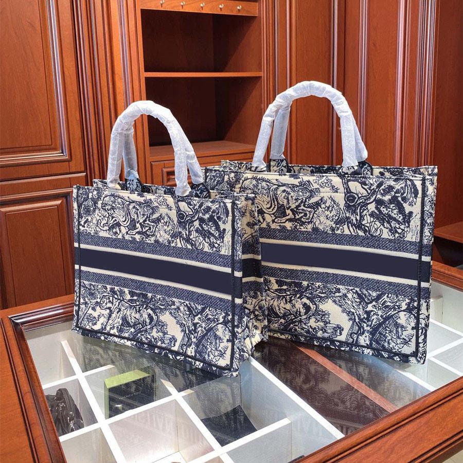 Luxurys Buch Mode Shopping Bestickte Designer Tote Handtasche Frauen Brief Leinwand Tasche Taschen Tasche Qualität Schulter Hohe Crossbody NDVSC