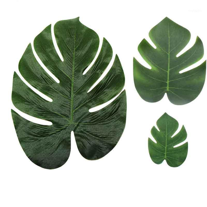 Декоративные цветы венки искусственные фальшивые монстеры пальмовые листья зеленые растения свадьба DIY украшения украшения растения листьев украшения1