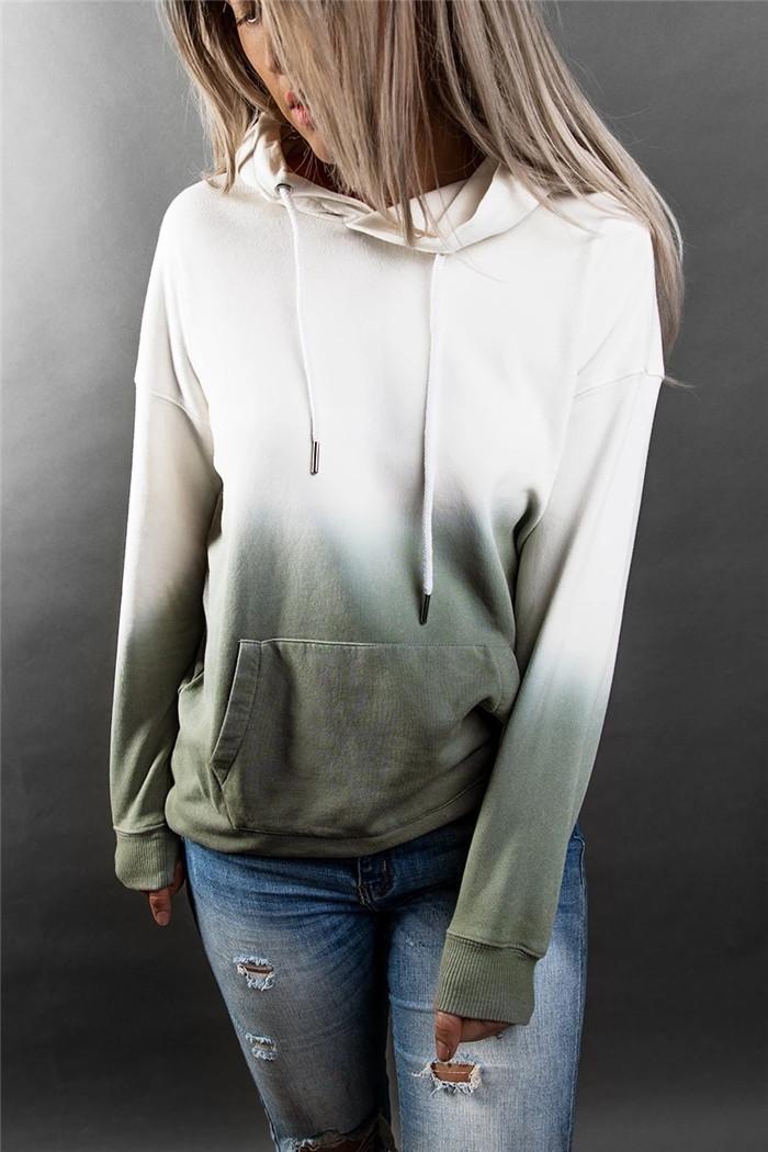 Lâche Tie Dye Sweats à capuche Femmes Designer manches longues à capuche Sweat-shirts avec des poches Automne Mode Pull Femmes Hauts Vêtements décontractés