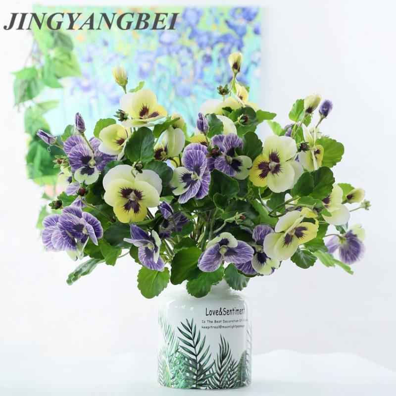 Touch latex amor artificial flores borboleta orquídea casa casamento decoração festa falsa floras segurando flor de parede natal
