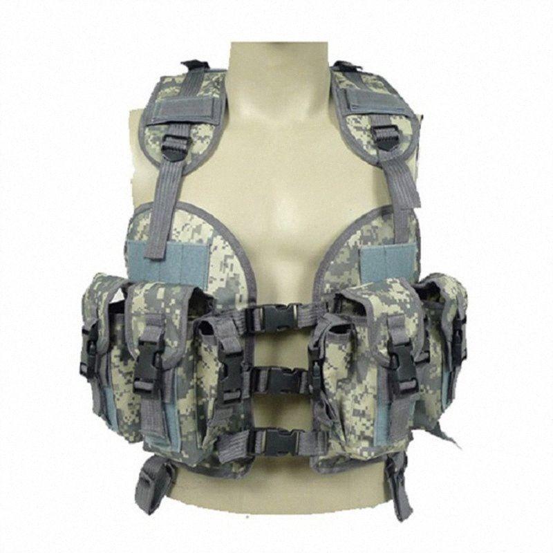 2017 Vêtements pour hommes Les activités de terrain Casual camouflage avec gilet Mluti-poches régulières Gilet de camouflage pour hommes deux couleurs Taille de l'#