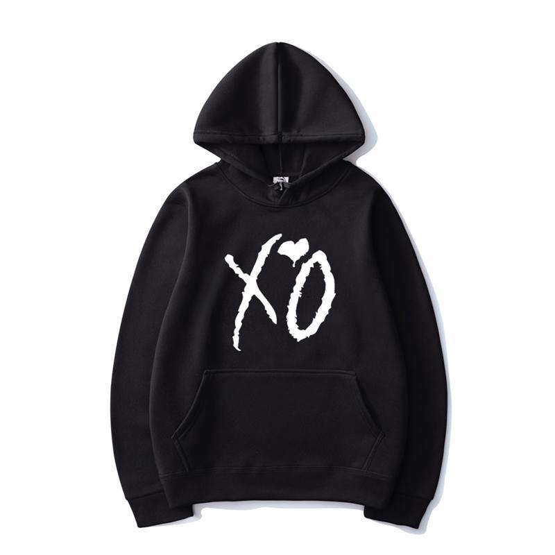 Модный XO печатные толстовки Weeknd популярные певицы мужчины женщины повседневный хип-хоп с капюшоном толстовка пуловер мода капюшон пальто Y201123