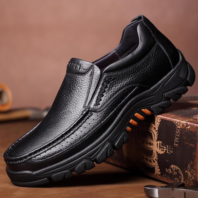 100% Genuine Leather Shoes Men Loafers Soft Cow Leather Men Casual Shoes New Male Footwear Black Brown Slip-on KA2088 201007