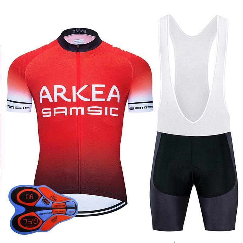 Yarış Setleri 2021 Pro Takım ARKEA Bisiklet Forması 9D Bib Seti MTB Fransa Bisiklet Giyim Hızlı Kuru Bisiklet Giyim Erkek Kısa Maillot Culotte Giymek