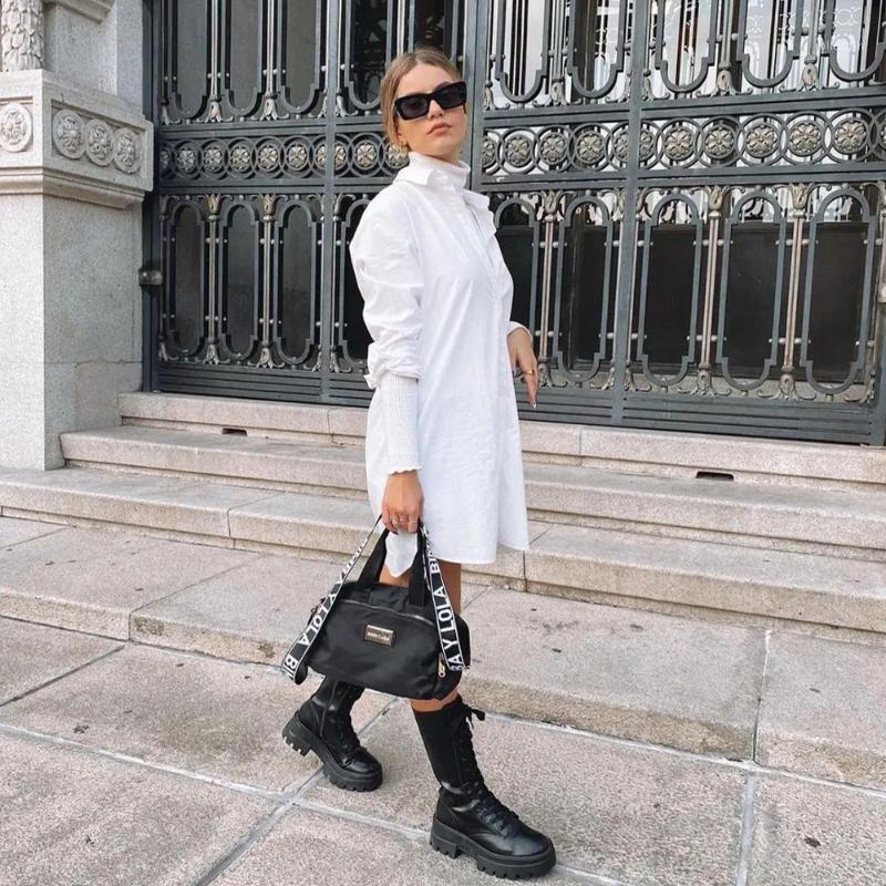 Женщины Блузки Рубашки Женщины Белый Негабаритный Блуза Длинные Рукава Воротниковая Свободная Элегантная Мода Женщина Рубашка Топы Femme Mujer Blusas1