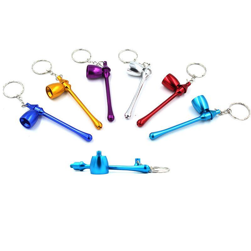 휴대용 금속 파이프 6 색 패션 크리 에이 티브 미니 카드 작은 파이프 분리의 성격 파이프 무료 배송