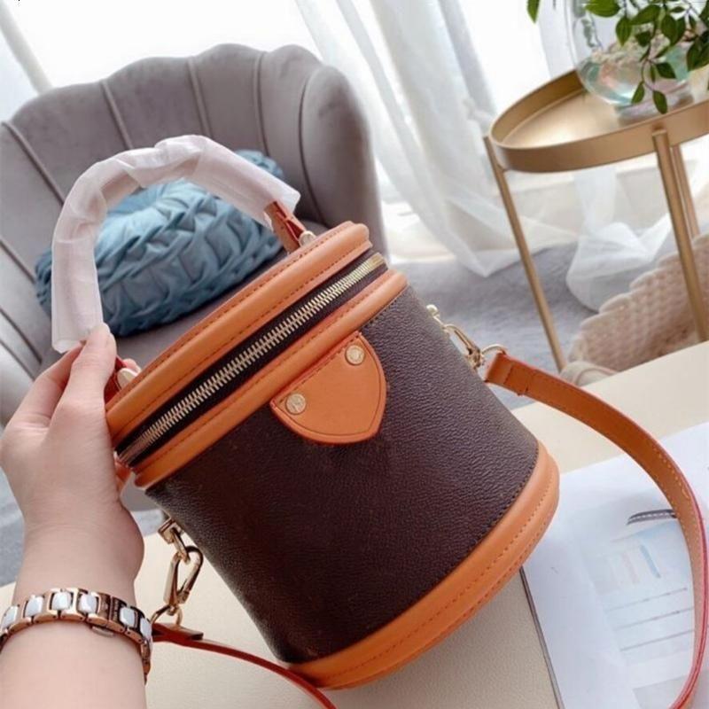Eimer Crossbody Taschen Alter Reißverschluss Handtaschen Mode Patchwork Kosmetische Frauen Abnehmbare Schultergurt Fall Tasche Blume Brief mit LO RPANL