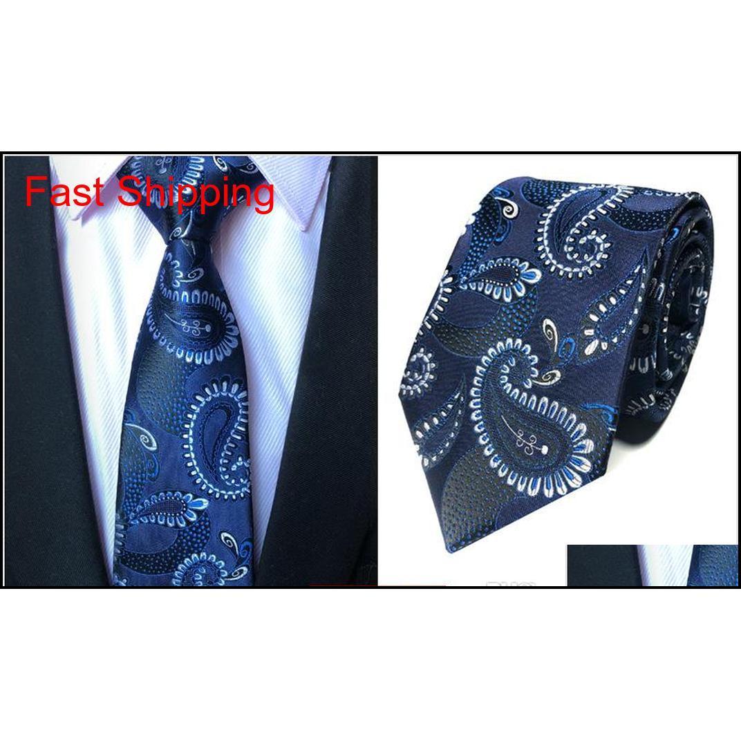 Yeni Tasarım Erkek Boyun Kravat Zarif Adam Çiçek Paisley Kravatları 145 * 8 * 3.8 cm Klasik Business Qyljeu HOMES2007