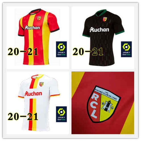 Maglie 2020 GANAGO maillots camicia LOKO Fortes Cahuzac Mauricio Gradit Radovanovic calcio 0 21 RC Lens Calcio 2021 FOFANA Kakuta de foot