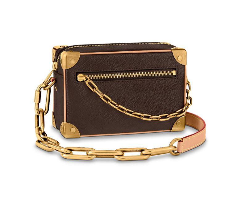 Bolso más vendido Tronco suave Tronco Paquete de pecho Lady Tote Cadenas Mano Bolsas de mano Bolsa de cuero Cuero Crossbody Diseñador HOBO Vintage Bolsas