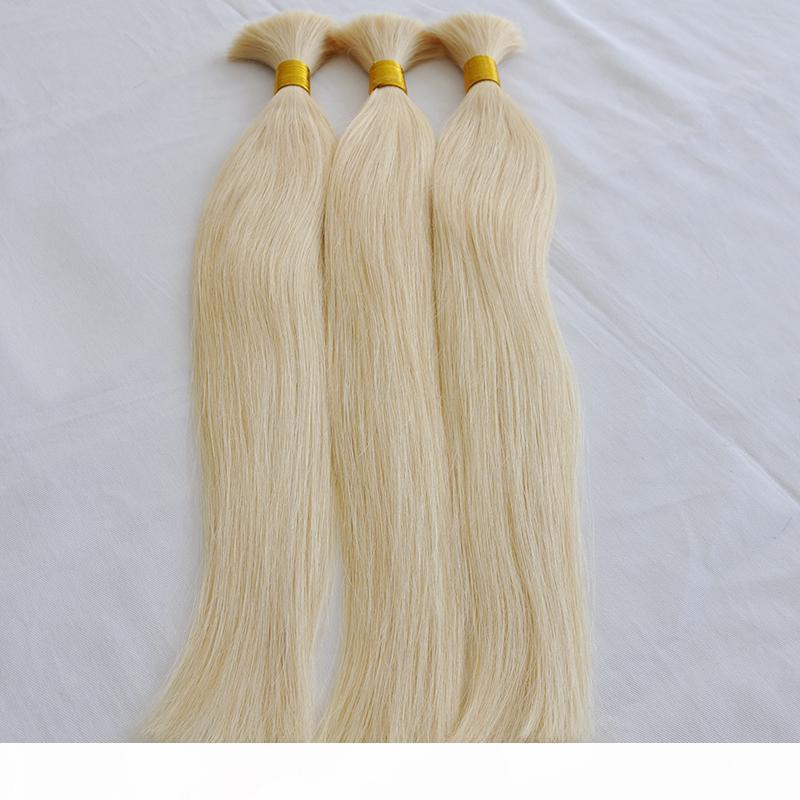 CE Certifié 100g par bundle 300gr sans weft blonde 613 couleur non traitée de qualité supérieure indienne péruvienne brésilienne moulin