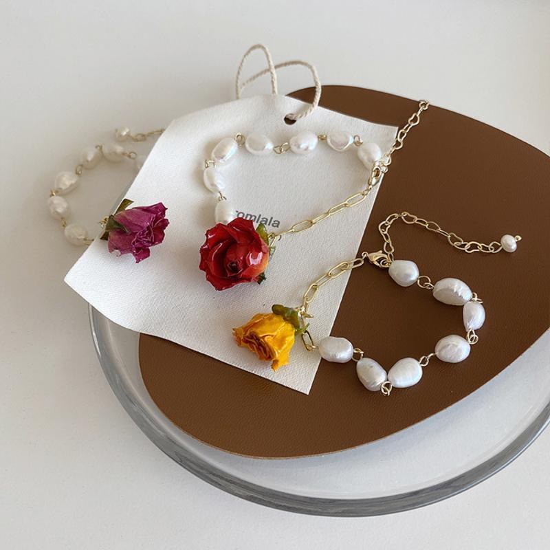 New Fashion Retro Rose Bracelet Irregolari Temperaglio delicato perle Braccialetto per perle signore Banchetto Gioielli da sposa