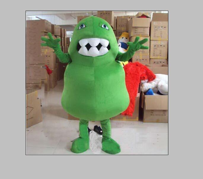 2019 Professionelle Fabrik heiß Kann mit Wasser EVA-Material Grüner Bakterien-Maskottchen-Kostüme zu Fuß Cartoon-Kleid Geburtstagsparty gewaschen werden
