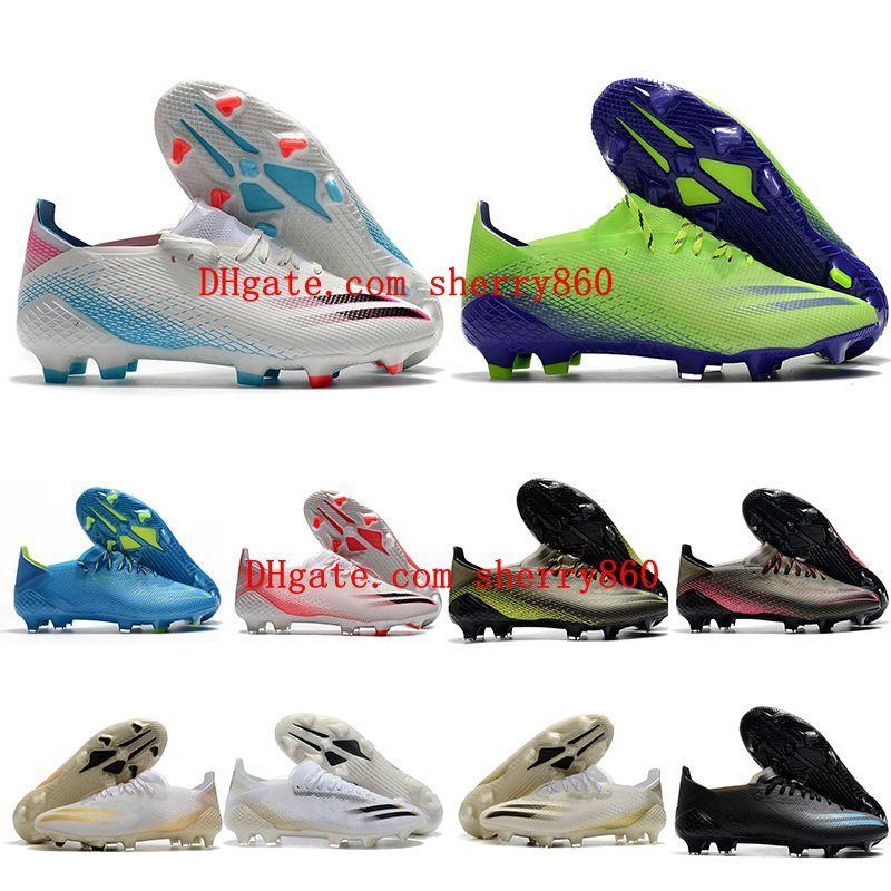 2021 futbol ayakkabıları kalite mens x hayalet .1 FG cleats futbol çizmeler açık Scarpe