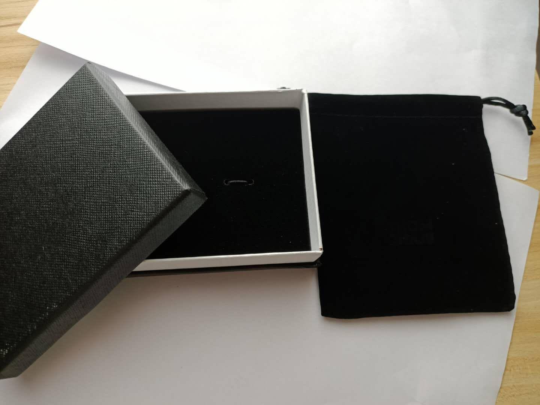 커프스 단추 / 팔찌 쥬얼리 포장에 대 한 벨벳 가방과 고품질 검은 보석 상자 크리스마스 선물 상자