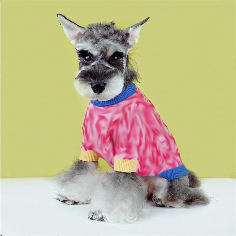 Moda Mektup Jakarlı Pet Kazak Kış Güz Sıcak Tasarımcı Bichon Mont Noel Günü Hediye Schnauzer Gömlek Için