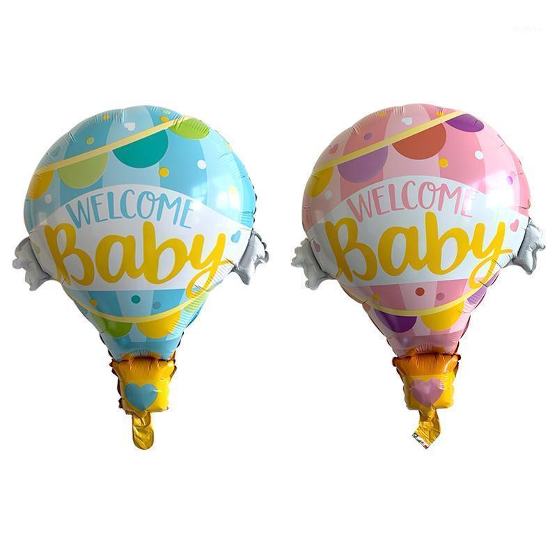 62 * 79cm boas-vindas bebê rosa azul quente balão balão balões de festa de aniversário decoração de casamento decoração de bebê chuveiro suprimentos1