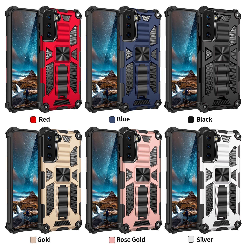 삼성 갤럭시 A52 A72 A02S A12 A32 A42 하이브리드 갑옷 보이지 않는 킥 스탠드 마그네틱 전화 케이스 Shockproof 커버 D1