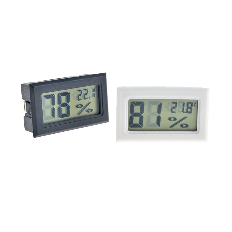 Black/White Mini Digital LCD Environment Thermometer Hygrometer Humidity Temperature Meter In room refrigerator icebox Free Shipping