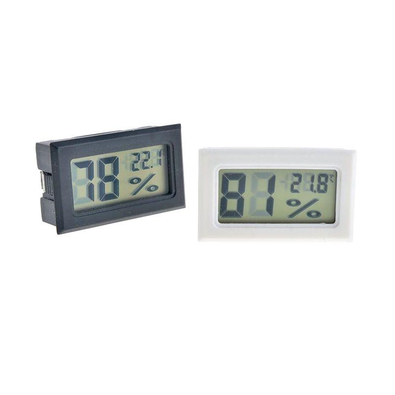 검정 / 화이트 미니 디지털 LCD 환경 온도계 습도계 습도 온도계 객실 냉장고 Icebox 무료 배송