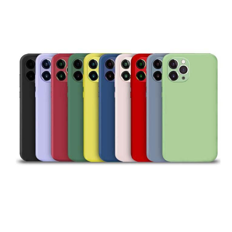 Moda miękkie ciecze Silikonowe skrzynki na iPhone 13 2021 12 Mini Pro Max 11 XS XR X 8 Plus 7 6 6s Phone13 Gumowa Odporna na wstrząsy Mikrofibry Poduszka Ultra-cienka pokrywa telefonu komórkowego