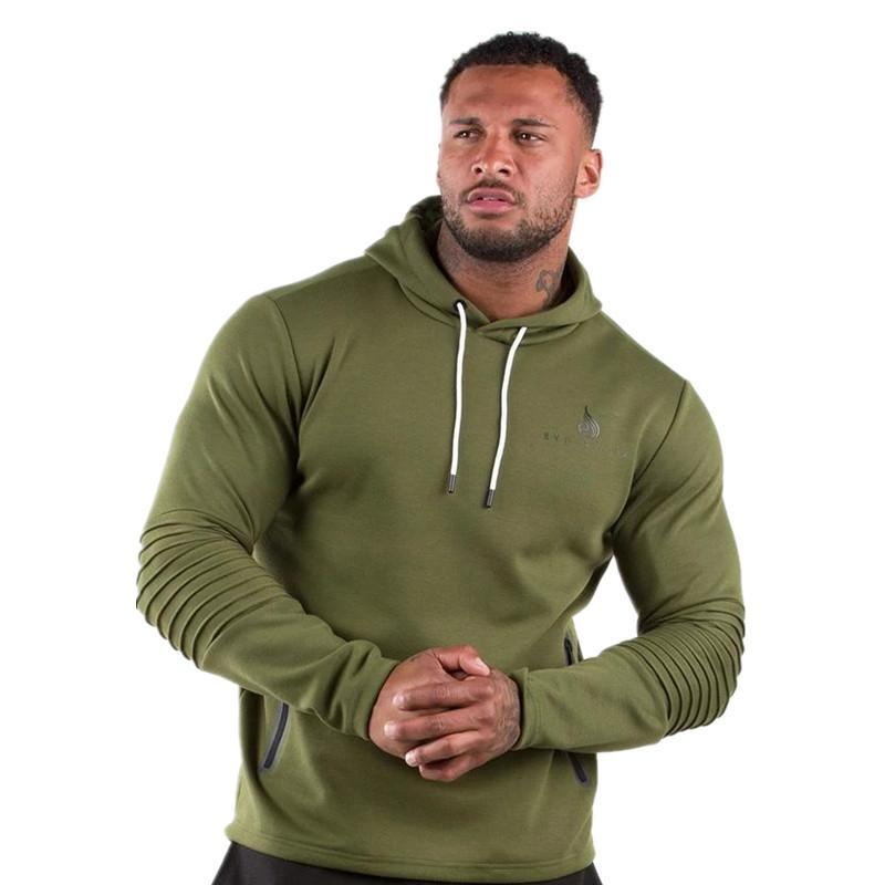 Salles de sport Sweatshirt Fitness Workout Chemises Hommes Casual Coton sport Automne Nouveau Homme Mode Pull Hauts Imprimer Vêtements Marque