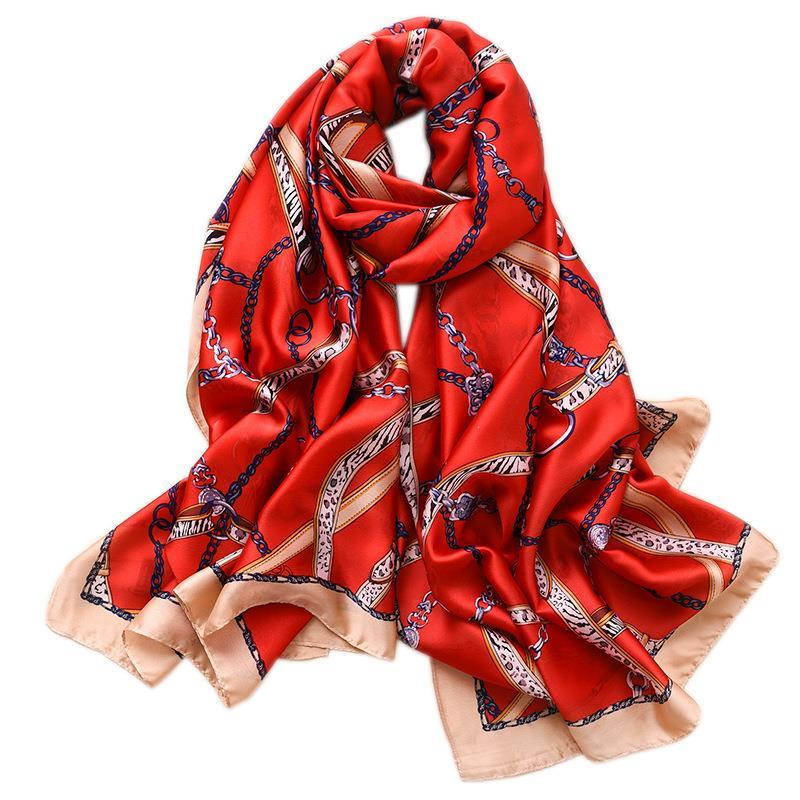 2021 Fashion Silk Bufanda Invierno Mantenga la bufanda cálida Bufandas de imitación de seda para las mujeres China Accesorios de estilo estilo simple para los amantes de las madres