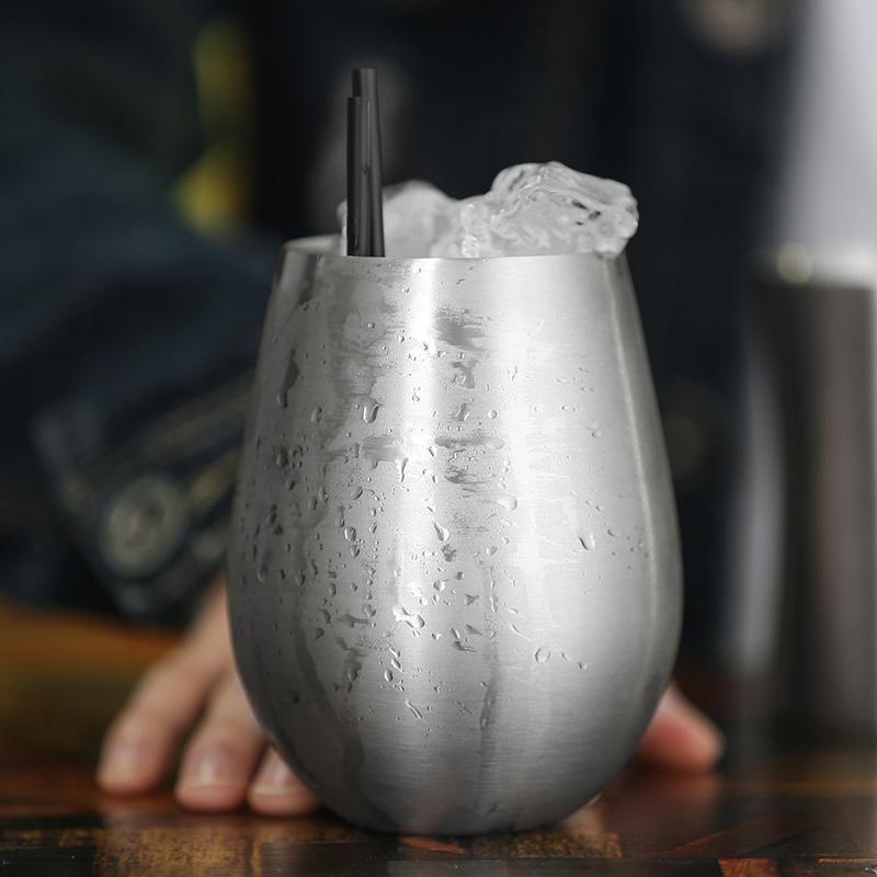 Чай Виски Bpa Пиво Питьевая вода холодная Бутылка молока 550ml 18oz Чашку Продажа Форма Творческий Яйцо Бесплатный кофе Горячий стальной нержавеющей bbyCCB
