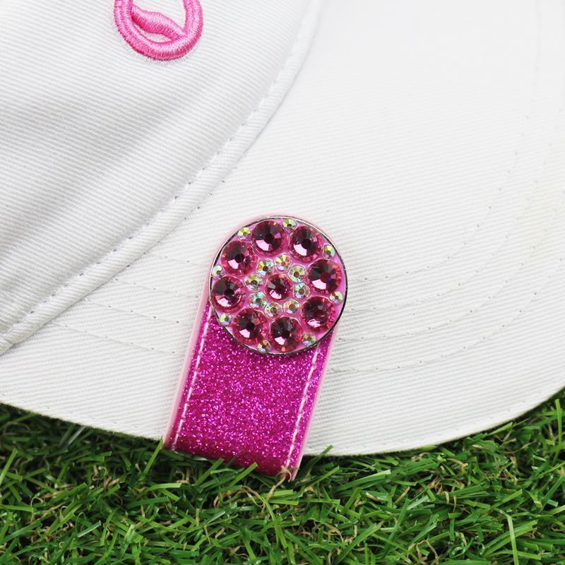 PINMEI Блестящие ПВХ гольф Hat клипы Bling Болл Марк наборы Кристалл гольф Маркеры с Cap Clips Аксессуар Подарки для Леди Дети