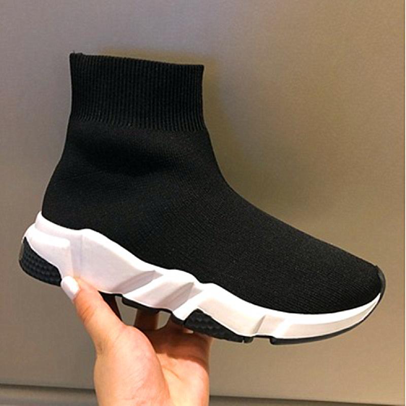 2021 Nuevos entrenadores de velocidad de París Punto de calcetín de punto para hombre para mujer color negro negro blanco zapatos de tejer barato mejor calidad zapatos casuales con caja