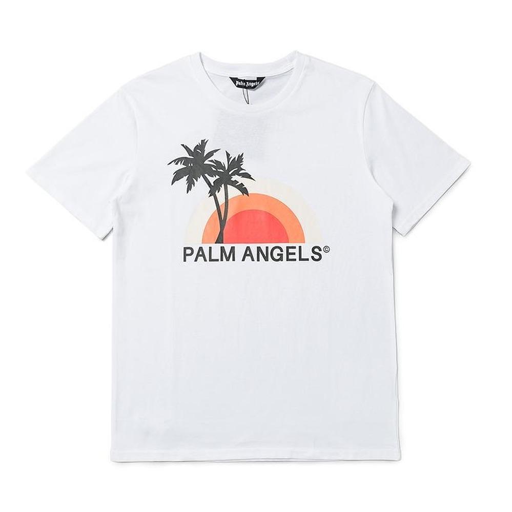 2020ANGELS Beauty Gezeiten PALM Drucken ANGELS PA lose beiläufige Sport Rundhals Kurzarm T-Shirt Männer und Frauen 080401-04 + 1