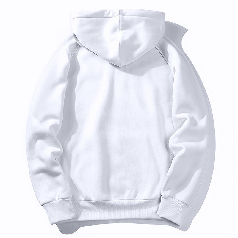 Réchauffez Toison Sweats Homme Sweat Nouveau Printemps Automne Blanc Plein Couleur Hip Hop Streetwear Vêtements pour homme Hoody UE SZIE XXL 201012