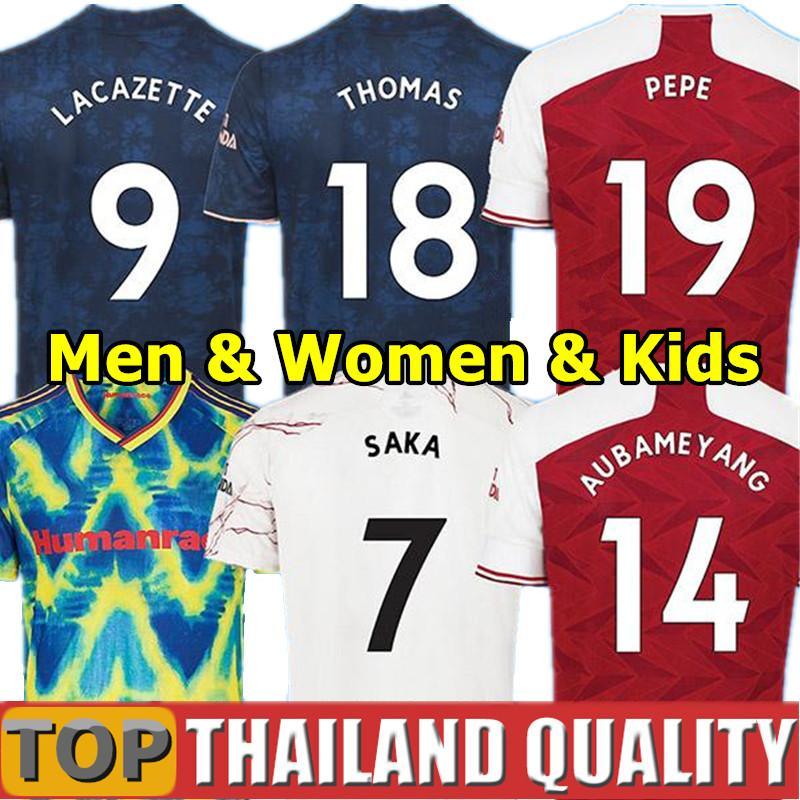 Arsenal 4º camisetas de futebol Artilheiros 20 21 PEPE SAKA THOMAS WILLIAN NICOLAS TIERNEY ARS camisa de futebol quarto RAÇA HUMANA Homens Mulheres Kit Infantil uniformes
