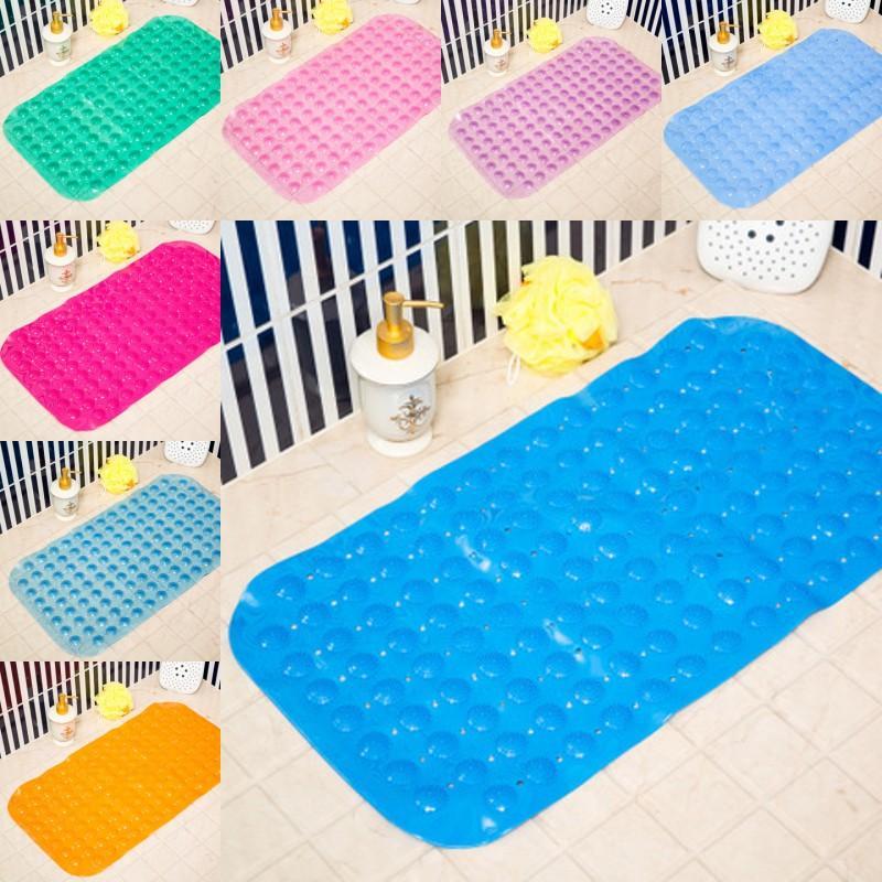 Mats de baño Masaje antideslizante 35 * 65 cm Pierna perforada PVC Safe Safe con tazas de succión Accesorios de baño de estera antideslizante E 40 K2