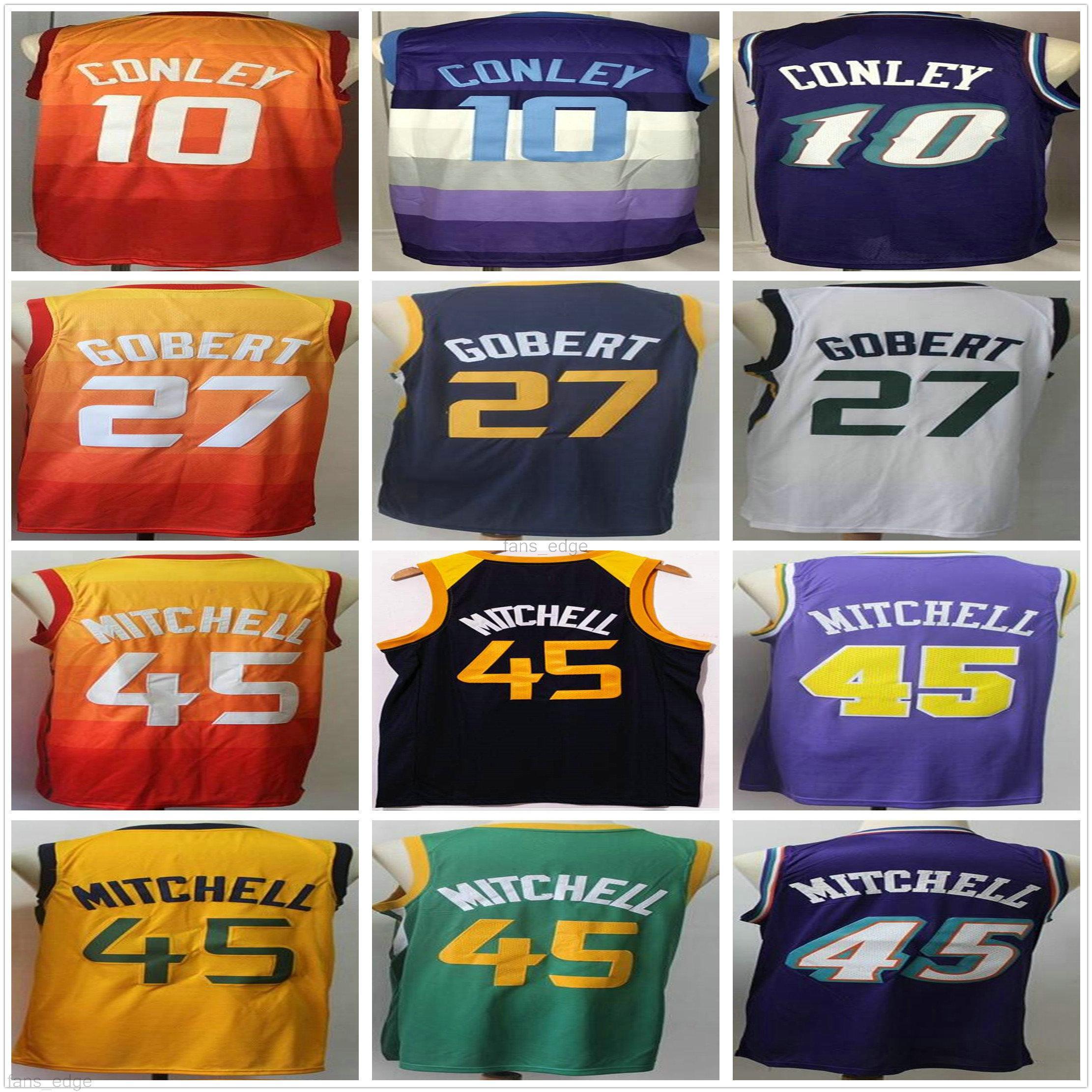 NCAA كلية دونوفان 45 ميتشل يوتا جيرسي بالجملة رودي 27 جوبت مايك 10 كوللي أزرق أبيض برتقالي الأرجواني رجل الجاز كرة السلة الفانيلة