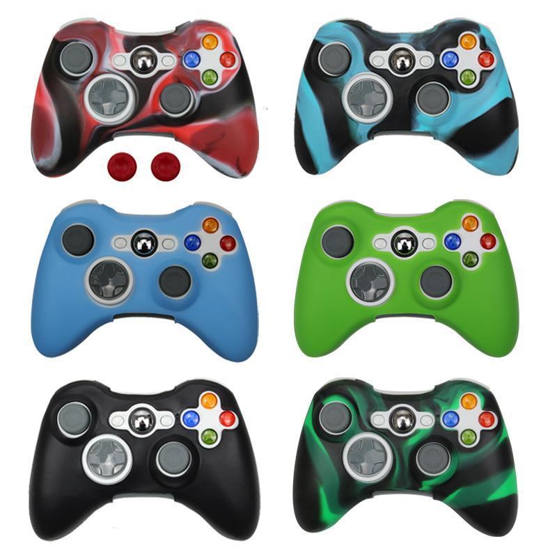 ZOMTOP Silikon-Kasten-Abdeckung für Xbox 360 Gamepad Soft Rubber Silikon-Abdeckung für Controller Zubehör Gel-Schutzhülle Haut