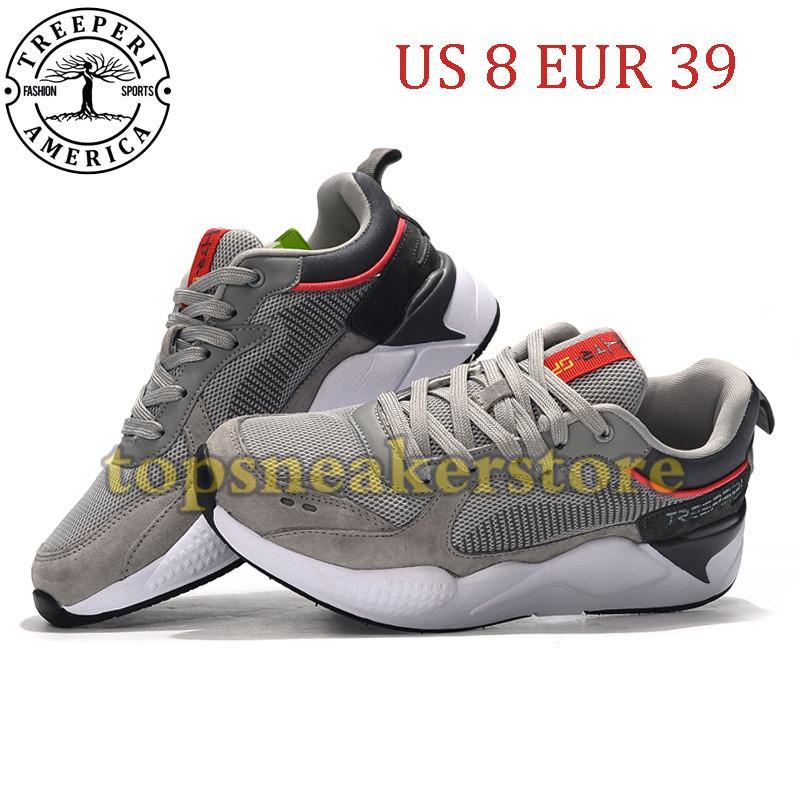 Nueva llegada TreePeri Fashion Chunky 2.0 Sole Sole Solk Zapatillas de correr gris carmesí 8 EUR 39 para mujeres entrenadores